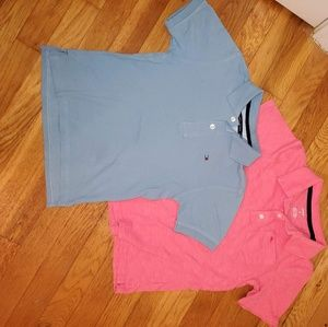 Pair of boys Size 7 collared shirts